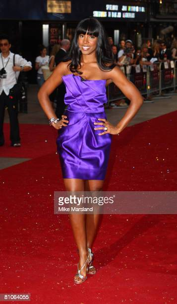 Kelly Rowland arrives at the World Premiere of Sex And The City held at the Odeon Leicester Square on May 12 2008 in London England