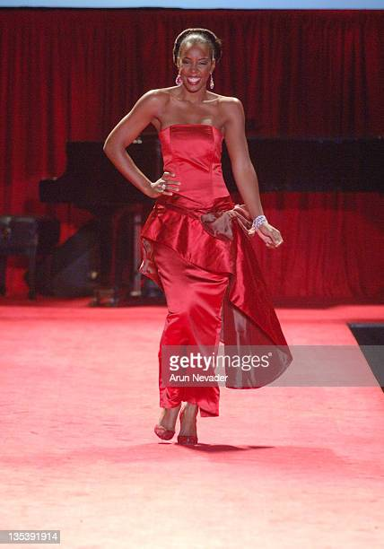 Kelly Rowland at Heart Truth Red Dress during Olympus Fashion Week Fall 2006 'Heart Truth Red Dress' Runway at The Tent Bryant Park in New York New...