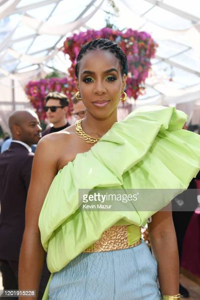 Kelly Rowland attends 2020 Roc Nation THE BRUNCH on January 25 2020 in Los Angeles California