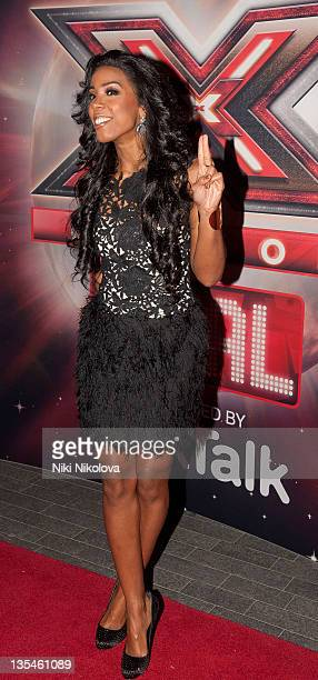 Kelly Rowland attends a photocall before 'The X Factor' live final show at Wembley Arena on December 10 2011 in London England