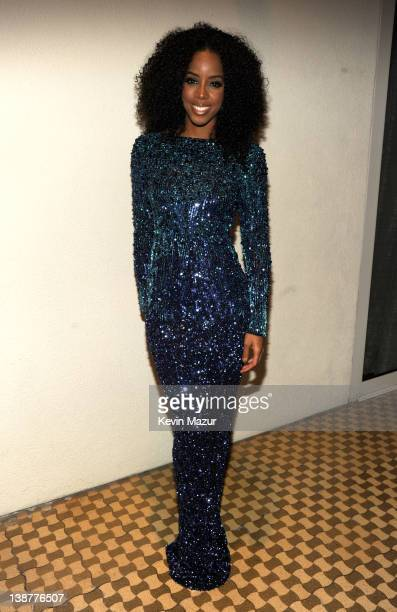 Kelly Rowland attends Clive Davis And The Recording Academy's 2012 PreGRAMMY Gala And Salute To Industry Icons Honoring Richard Branson at The...