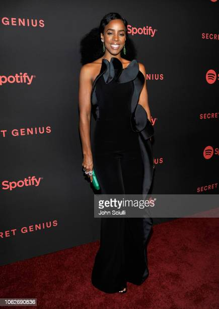 Kelly Rowland attends Spotify's Secret Genius Awards hosted by NEYO at The Theatre at Ace Hotel on November 16 2018 in Los Angeles California
