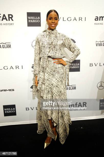 Kelly Rowland attends the 2014 amfAR New York Gala at Cipriani Wall Street on February 5 2014 in New York City
