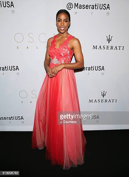 Kelly Rowland attends the 2016 Oscar Salute Hosted By Kevin Hart Academy Awards Screening And AfterParty at W Hollywood on February 28 2016 in...