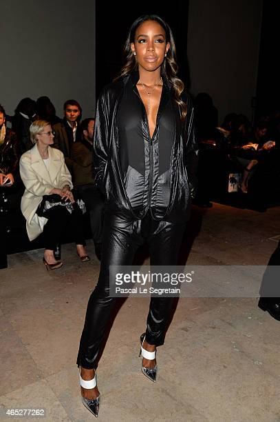 Kelly Rowland attends the Barbara Bui show as part of the Paris Fashion Week Womenswear Fall/Winter 2015/2016 on March 5 2015 in Paris France