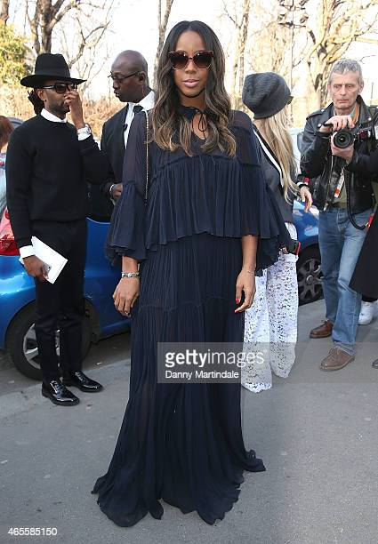 Kelly Rowland attends the Chloe show during Paris Fashion Week Fall Winter 2015/2016 on March 8 2015 in Paris France