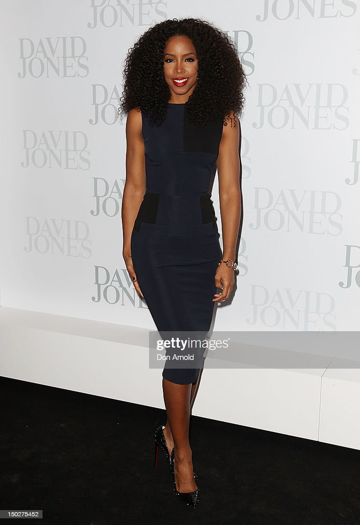 Kelly Rowland attends the David Jones S/S 2012/13 Season Launch at David Jones Castlereagh Street, on August 14, 2012 in Sydney, Australia.