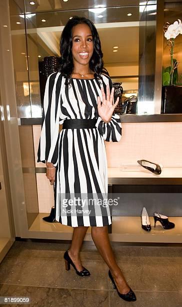 Kelly Rowland attends the Giuseppe Zanotti Design Boutiques launch party at Giuseppe Zanotti Design Boutiques on July 10, 2008 in London, England.