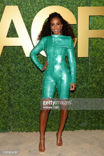 Kelly Rowland attends the MACRO PreOscar Party 2019 at Casita Hollywood on February 21 2019 in Los Angeles California