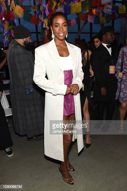Kelly Rowland attends the Prabal Gurung Front Row during New York Fashion Week The Shows at Gallery I at Spring Studios on September 9 2018 in New...