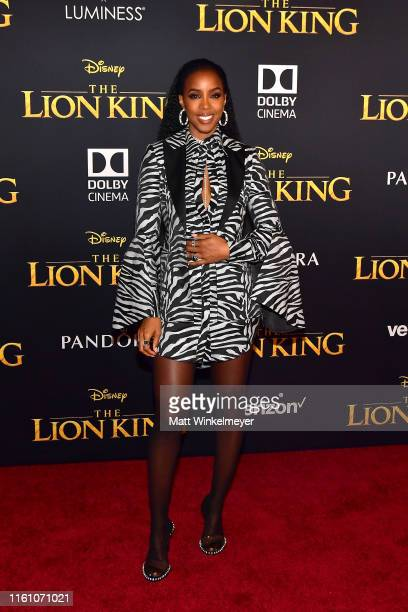 Kelly Rowland attends the premiere of Disney's The Lion King at Dolby Theatre on July 09 2019 in Hollywood California