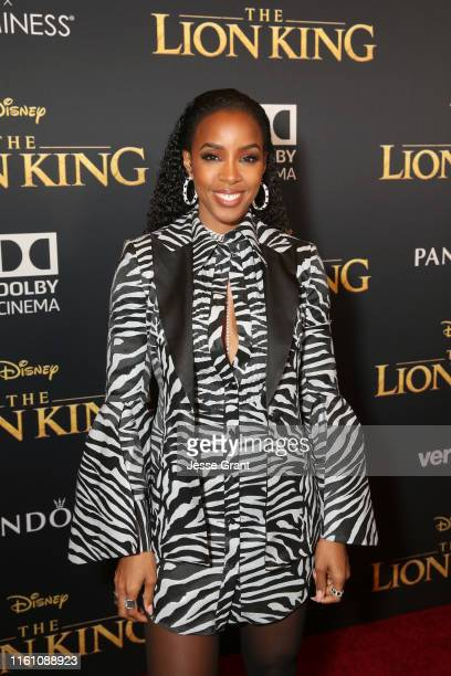 """Kelly Rowland attends the World Premiere of Disney's """"THE LION KING"""" at the Dolby Theatre on July 09, 2019 in Hollywood, California."""