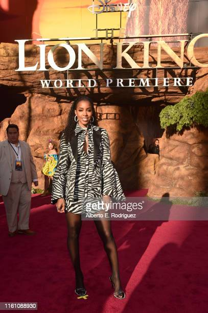 Kelly Rowland attends the World Premiere of Disney's THE LION KING at the Dolby Theatre on July 09 2019 in Hollywood California