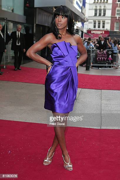Kelly Rowland attends the World Premiere of Sex And The City held at the Odeon Leicester Square on May 12 2008 in London England