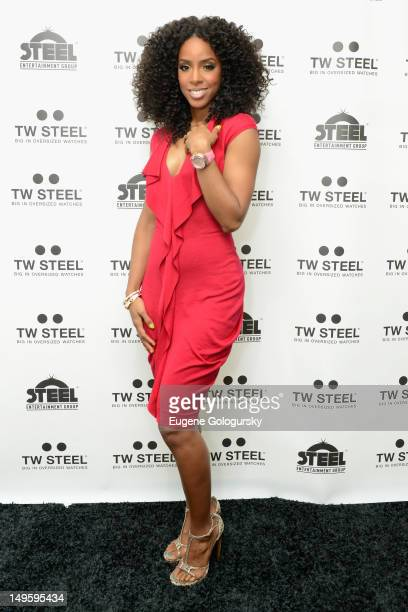 Kelly Rowland attends TW Steel Jordy Cobelens unveiling of the new TW Steel Kelly Rowland Special Edition watches at The Standard on July 31 2012 in...