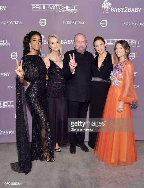 Kelly Rowland, Baby2Baby Co-President Kelly Sawyer Patricof, John Paul DeJoria, Jennifer Garner, and Baby2Baby Co-President Norah Weinstein pose at...