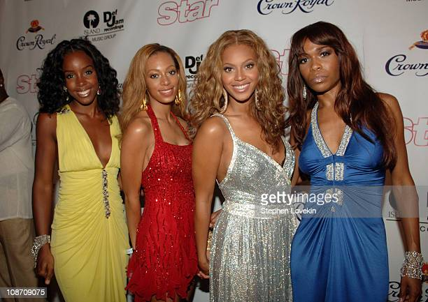 Kelly Rowland Beyonce Knowles and Michelle Williams of Destiny's Child with Solange Knowles