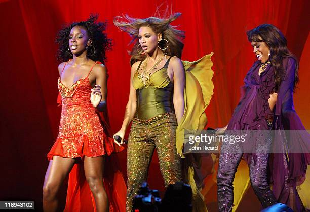 Kelly Rowland Beyonce Knowles and Michelle Williams of Destiny's Child