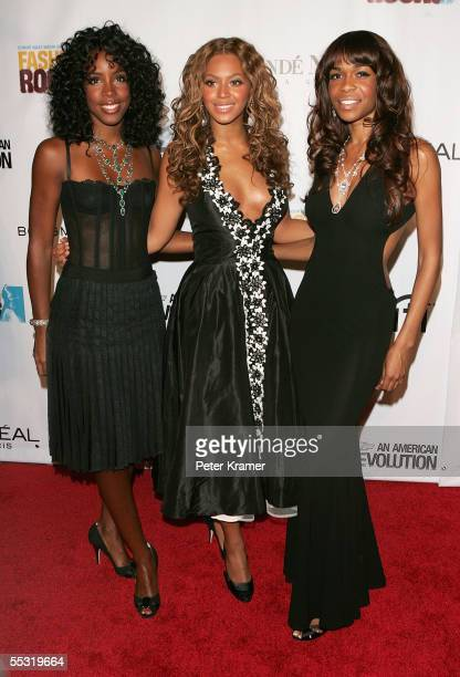 Kelly Rowland Beyonce Knowles and Michelle Williams of Destiny's Child arrive at Fashion Rocks at Radio City Music Hall September 8 2005 in New York...