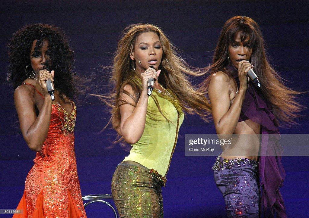Destiny's Child in Concert at the Verizon Wireless Amphitheatre - July 22, 2005 : News Photo