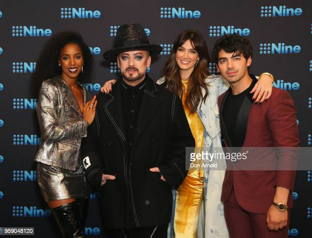 Kelly Rowland Boy George Delta Goodrem and Joe Jonas attend the Nine All Stars Event on May 16 2018 in Sydney Australia