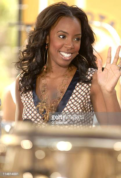 Kelly Rowland during Earth Wind and Fire with Kelly Rowland Perform on NBC's The Today Show Summer Concert Series June 16 2006 at NBC Studios in New...