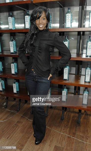 Kelly Rowland during 'Inspired' by Music at the Bombay Sapphire Lounge at Sapphire Lounge in New York City New York United States