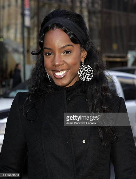 Kelly Rowland during Mercedes-Benz Fashion Week Fall 2007 - Seen Around Bryant Park - Day 5 at Bryant Park in New York City, New York, United States.