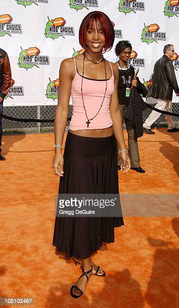 Kelly Rowland during Nickelodeon's 16th Annual Kids' Choice Awards 2003 Arrivals at Barker Hanger in Santa Monica California United States