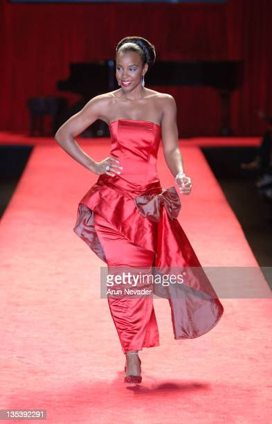 Kelly Rowland during Olympus Fashion Week Fall 2006 'Heart Truth Red Dress' Runway at The Tent Bryant Park in New York New York United States