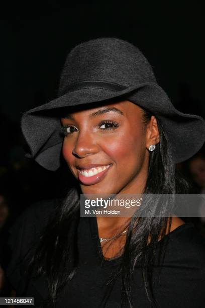 Kelly Rowland during Olympus Fashion Week Fall 2006 Sass Bide Runway and Front Row at Bryant Park in New York City New York United States