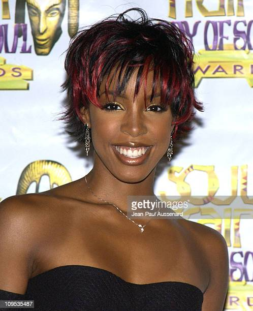 Kelly Rowland during The 8th Annual Soul Train 'Lady of Soul' Awards Press Room at Pasadena Civic Auditorium in Pasadena California United States