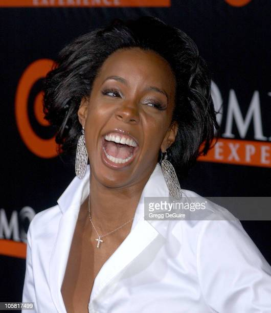 Kelly Rowland during The Seat Filler Los Angeles Premiere Arrivals at El Capitan Theatre in Hollywood California United States