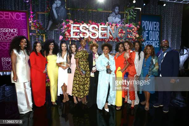 Kelly Rowland Essence Communications President Michelle Ebanks Essence Chief Content Creative Officer Moana Luu Sanaa Lathan honoree Regina Hall...