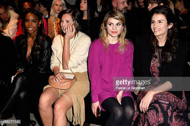 Kelly Rowland guest Coeur de Pirate and Louise Monot attend the Barbara Bui show as part of the Paris Fashion Week Womenswear Fall/Winter 2015/2016...