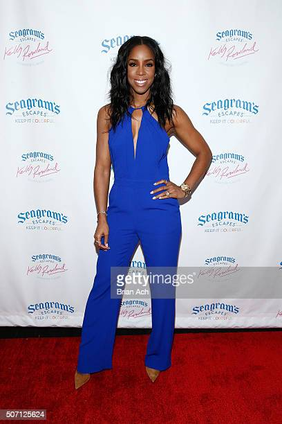 Kelly Rowland hosts the Seagram's Escapes Signature Flavors launch event on January 27 2016 in New York City