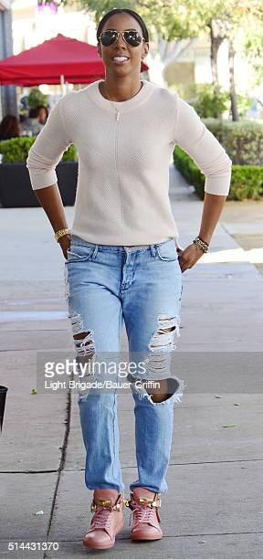 Kelly Rowland is seen in West Hollywood Ca on March 08 2016 in Los Angeles California
