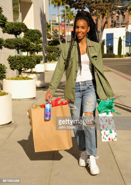 Kelly Rowland is seen on December 7 2017 in Los Angeles California