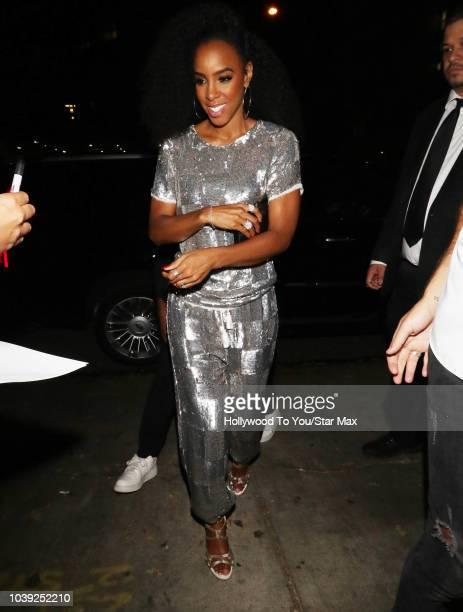 Kelly Rowland is seen on September 23 2018 in Los Angeles CA