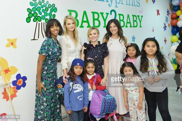 Kelly Rowland Kelly Sawyer Patricof Kristen Bell Norah Weinstein and guests attend Baby2Baby Mother's Day Party Presented By TinyPrints at Baby2Baby...