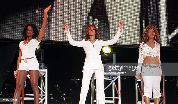Kelly Rowland Michelle Williams and Beyonce Knowles of Destiny's Child perform at the 'Rockin' The Corps An American Thank You Celebration Concert'...
