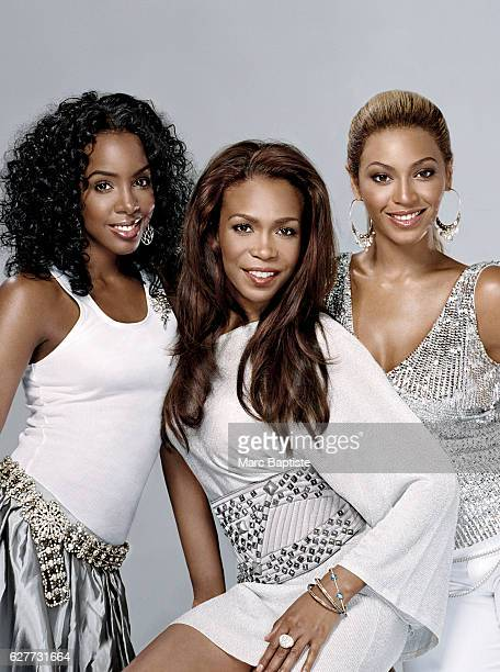 Kelly Rowland Michelle Williams and Beyonce Knowles Styling by Jorge Ramon hair by Kimberly Kimble for Margaretmaldonadocom Rowland's and Williams's...