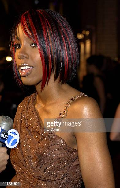 Kelly Rowland of Destiny's Child during 2003 Clive Davis PreGRAMMY Party Inside at The Regent Wall Street in New York City New York United States