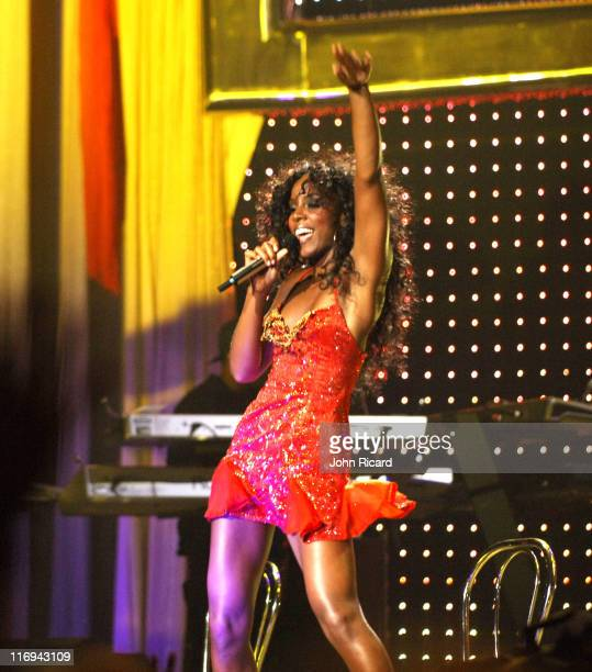 Kelly Rowland of Destiny's Child during Destiny's Child in Concert at Madison Square Garden in New York City July 29 2005 at Madison Square Garden in...