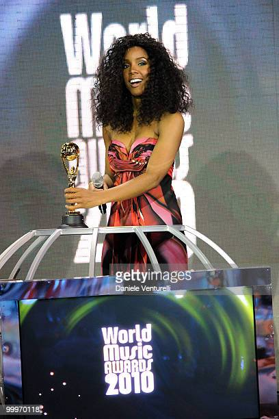 Kelly Rowland on stage during the World Music Awards 2010 at the Sporting Club on May 18 2010 in Monte Carlo Monaco