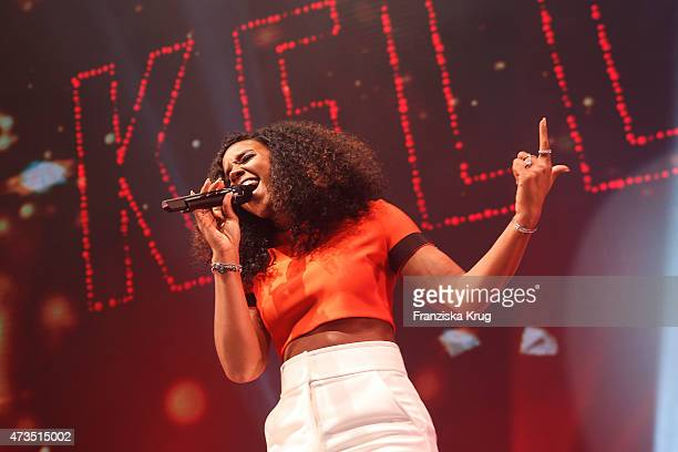 Kelly Rowland performs at the Maybelline 100th anniversary celebrations on May 15 2015 in Berlin Germany