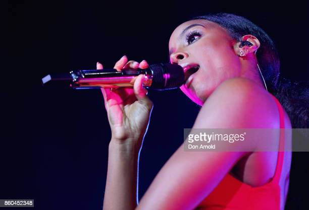 Kelly Rowland performs during RNB Fridays Live at Qudos Bank Arena on October 12 2017 in Sydney Australia