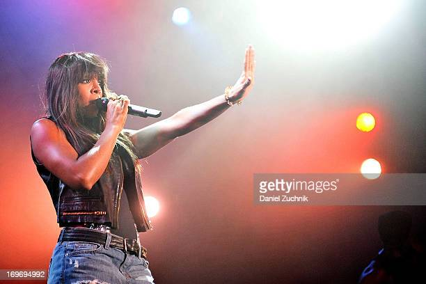 Kelly Rowland performs during the Kelly Rowland and The Dream 'Lights Out' tour at the Best Buy Theater on May 30 2013 in New York City