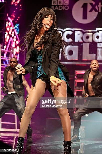 Kelly Rowland performs on stage during the BBC Radio 1Xtra Live tour at Brixton Academy on December 1, 2011 in London, United Kingdom.