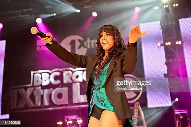 Kelly Rowland performs on stage during the BBC Radio 1Xtra Live tour at Brixton Academy on December 1 2011 in London United Kingdom